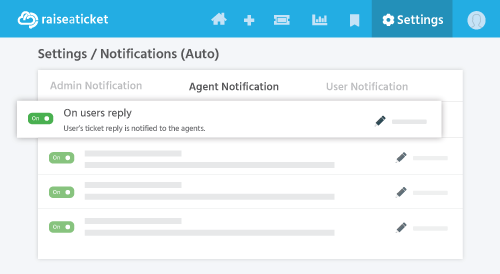 Reply notification for agents