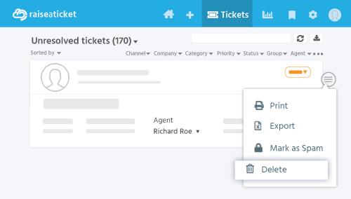 Ticket delete from ticket list