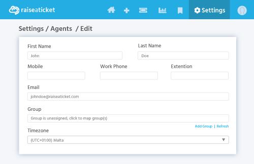 Agent Email Address Edit