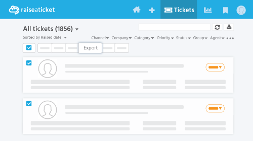Ticket Export