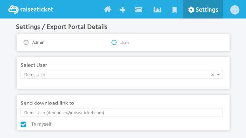 Export Portal Details