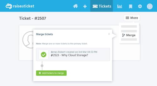 Merge Tickets