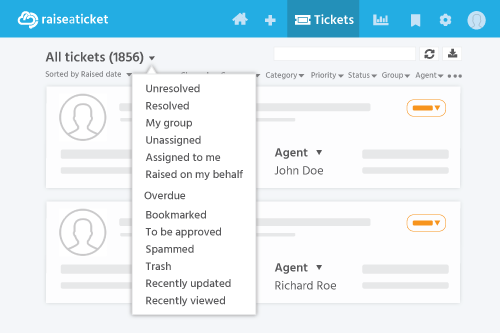 Ticket list filter