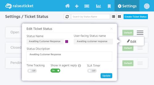 User-facing status name