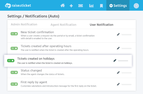 Outside operating hour notifications